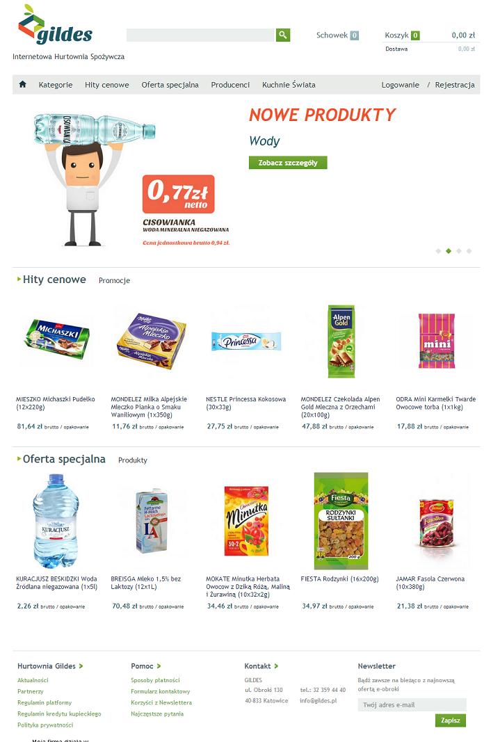 Hurtownia Spożywcza Gildes • Zakupy przez Internet na Śląsku Katowice